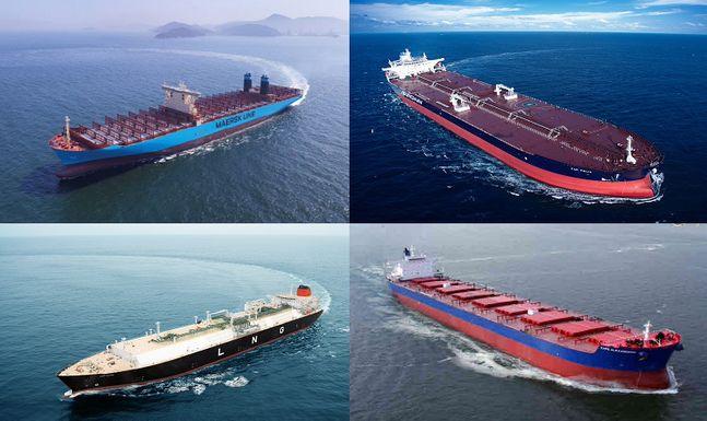 한국 조선업계가 건조한 선박들.ⓒ각사