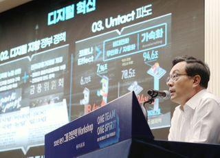 [포토]손태승 우리금융 회장, 디지털 혁신 주문