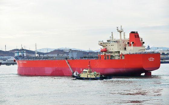 현대미포조선이 건조한 5만톤급 PC선 카스타라호.ⓒ현대미포조선
