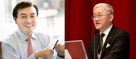 차석용 LG생활건강 부회장(왼쪽), 서경배 아모레퍼시픽그룹 회장(오른쪽)ⓒLG생활건강/아모레퍼시픽