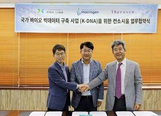 국내 유전체 분석 3사 'K-DNA' 업무협약 체결