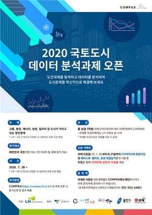2020 국토도시 데이터 분석과제 오픈 포스터.ⓒLH