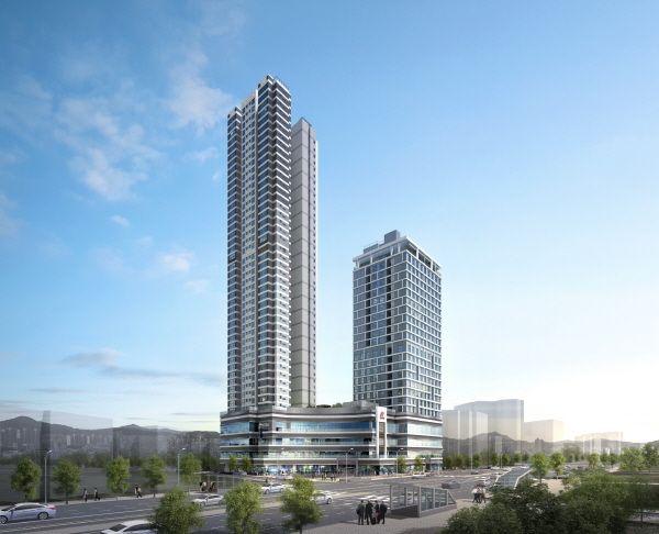 서울 강동구 천호·성내3구역을 재개발하는 힐스테이트 천호역 젠트리스 투시도.ⓒ현대엔지니어링