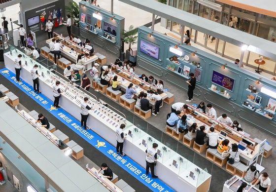 삼성전자가 지난8일 오픈한 서울 영등포 타임스퀘어