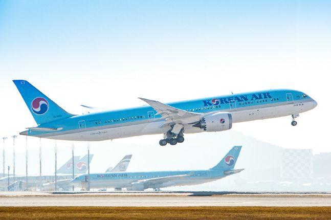 대한항공이 올해 전 세계에서 유일하게 흑자를 내는 항공사가 될 것으로 보인다. 사진은 대한항공 보잉787-9.ⓒ대한항공