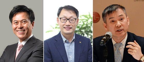 (왼쪽부터) 박정호 SKT 사장, 구현모 KT 사장, 하현회 LGU+ 부회장. ⓒ각사