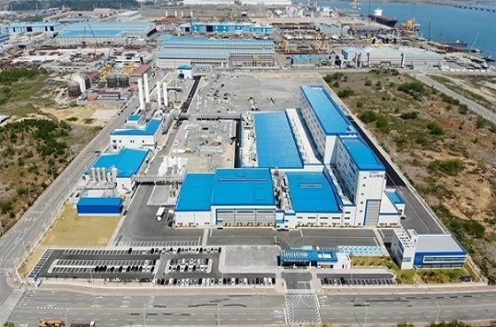 포스코케미칼이 광양 율촌산단에 조성하는 양극재 공장 전경.ⓒ포스코케미칼