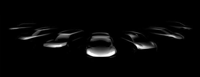 기아차가 오는 2027년까지 출시할 전용 전기차 7개 모델의 스케치 이미지ⓒ기아차