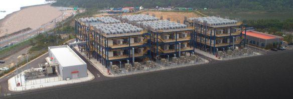두산퓨얼셀이 수소 연료전지 114대를 공급한 대산 수소연료전지발전소.ⓒ두산퓨얼셀