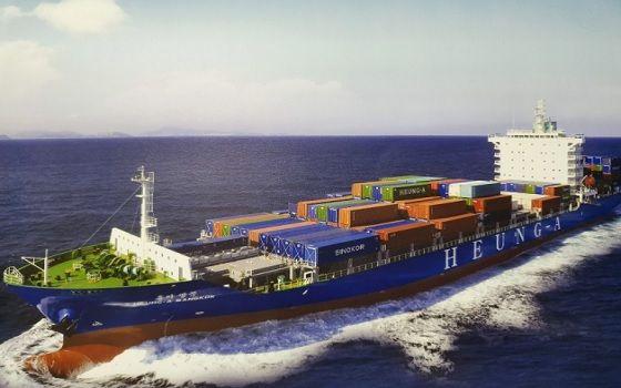 흥아라인 컨테이너선 흥아방콕호가 바다를 항해하고 있다.ⓒ흥아라인