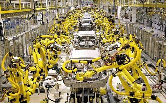 자동차 제조 공정에 투입되는 현대로보틱스의 로봇 시스템이 자동차 제조 공정에 투입되고 있다.ⓒ현대중공업