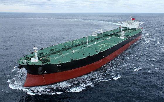현대중공업이 건조한 초대형 원유운반선(VLCC)가 시운전에 나서고 있다.ⓒ한국조선해양