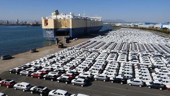 울산시 소재 현대자동차항 수출용 자동차 선적 모습.ⓒ현대자동차그룹