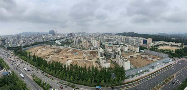 서울 강동구 둔촌동 둔촌주공아파트 철거현장.ⓒ현대건설