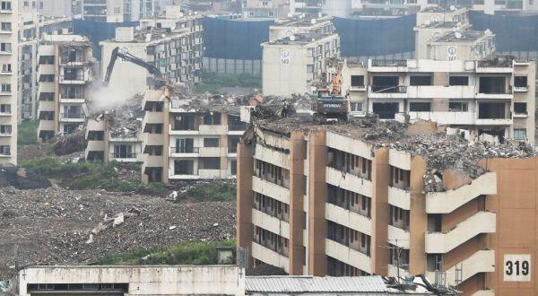 서울 강동구 둔촌동 둔촌주공아파트 철거공사 모습.ⓒ연합뉴스