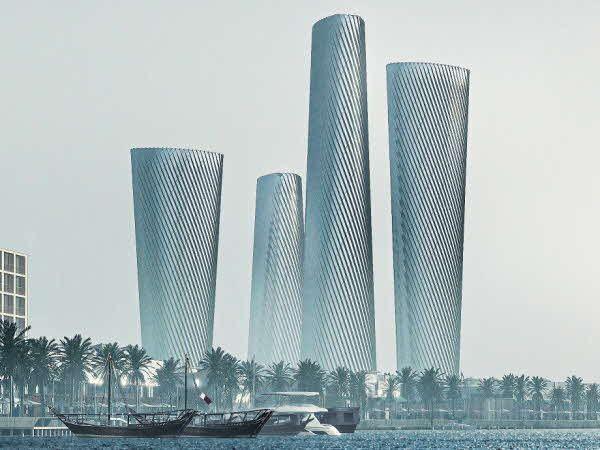 현대건설이 수주한 카타르 루사일 타워 PLOT3·PLOT4 조감도.ⓒ현대건설